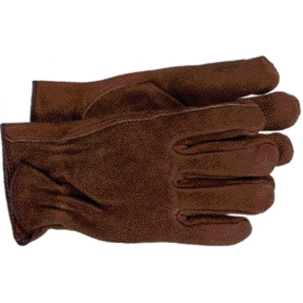 Brown Split Leather Gloves for Men  / Size (L) Best Price