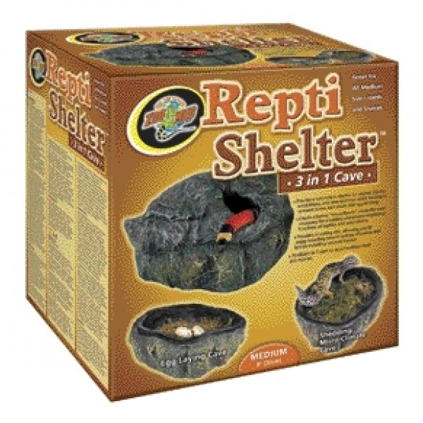 Repti Shelter 3 in 1 Cave / Size (Medium) Best Price