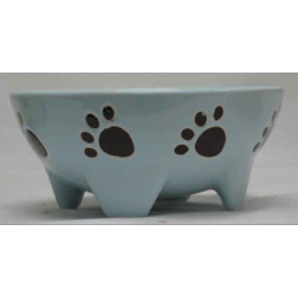 Footed Ceramic Pet Dish / Size (7 in Blue / Dog) Best Price