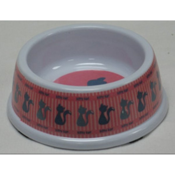 Pet Love No-Tip Melamine Dish / Size (Kitty Pink / 5 in) Best Price