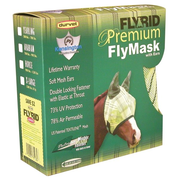 Fly Rid Premium Masks for Horses / Type (Yearling w/ ears) Best Price