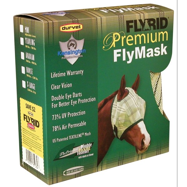 Fly Rid Premium Masks for Horses / Type (Yearling w/o ears) Best Price