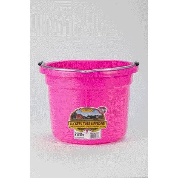 8 Qt. Little Giant Flatback Bucket / Color (Hot Pink) Best Price