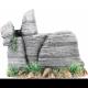 Pagoda Rock Formation With Plant GREY 8X4X6