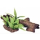 Mopani Wood with Silk Plants - Med.