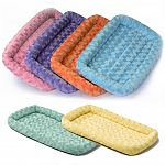 These great Midwest Quiet Time beds now come in fashionable colors. Feature Synthetic Fur and are ideal for Use in Crates, Carriers, Dog Houses, Vehicles and more. Keeps Pets Cool in the Summer, Warm in the Winter.