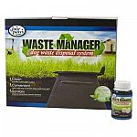 Designed to be good for the environment, this waste manager acts as a mini septic tank for your dog's waste. Just add water from the hose or rain water and an enzyme tablet. Very easy to use and a convenient way of disposing pet waste.