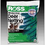 Protective deer netting stops animal from damaging garden areas, easy to install, reusable season after season.