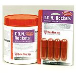 A powerful stress capsule designed for use on cows after calving or duringsickness, T.D.N. Rockets maintain appetite and digestion following antibiotictreatment.