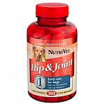 Hip and Joint Liver Chewables for Dogs by Nutri-Vet is formulated with glucosamine to provide support and maintain hip and joint function in your dog. This easy to administer chewable is ideal for helping your dog remain active, healthy and happy.