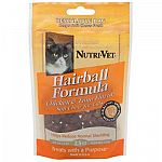 Reduce the amount of hairballs in your cat's stomach with this easy to administer soft chew. Made with yucca for odor control and contains omega fatty acids for better digestion. Size is 2.5 oz (approx. 45 Chews).