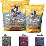 You will love using this bedding in your small animal pet's cage. Made of recycled paper that is available in three great colors. Recycled paper is unbleached and dyed with non-toxic dyes and safe for your pet. Contains baking soda to absorb odors.