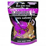 Mealworm and Berry To Go Wild Bird Food by Unipet is made with natural berry flavored, dried mealworms for a tasty alternative to wild bird seed. Great for feeding separately or combined with bird seed. Berry flavor is tasty treat for your wild bird.