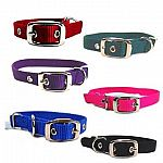 Deluxe Single Thick Attractive Nylon Dog Collar in multiple colors. Tongue Buckle. Made by Hamilton Pet - the leader in dog collars. Classic style dog collar - almost indestructable. Perfect for keeping your pet in trendy colors.