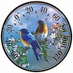 Renowned wildlife artist James Hautman captures the vivid imagery of bluebirds. James Hautman's artwork can now hang around your home or office thanks to a series of 12 1/2 inch thermometers.
