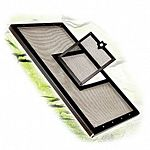 Reptile cover screen metal door black 30x12 inches.  Provide the refreshing air circulation of a Fresh Air Screen Cover, with the added feeding convenience of a hinged access door.