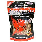 Mealworm and Cranberry To Go Wild Bird Food has a great cranberry taste that your backyard birds will not be able to resist. Made with dried mealworms and a tasty cranberry flavoring, this treat is great by itself or mixed in with bird seed.
