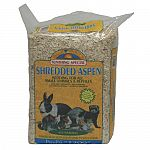 Dust-free aspen shredded bedding for small animals and reptiles. 1250 cubic inches pressed expands to 1325 cubic inches.