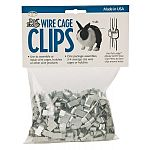 1 lb. bag of wire cage clips. Use to assemble 14 to 16 gauge wire panels for rabbit hutches and pet homes. One package assembles 3-4 average size units.