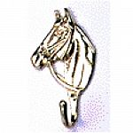 This brass bridle hook will add a bit of class to any tack room.  Exquisite detail - this horses head bridle hook is similar to a coat hook, but will hold more weight.