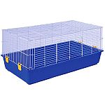 Perfect for rabbits, guinea pigs, and other small animals. 6.5 inch deep tub to contain mess. 2 large doors for easy access to pets. 3 assorted cages per pack. Cage dimensions: 47 x 23 x 22.