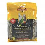 Quiko egg food crumbles and spirulia is designed to meet the daily nutritional needs of all parrot species. Addition of nutrient rich fortified vita bite pellets add vitamins and minerals not normally found in straight seed diet. Promotes colorful feather