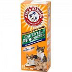 Arm & Hammer Multiple Cat Litter Deodorizer with Baking Soda helps keep your litter box odor free while the litter stays first-day fresh longer. Arm & Hammer Baking Soda eliminates odors on contact!