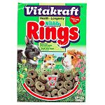 Your small pet would love to munch on some healthy Nibble Rings! Their unique shape and delicious blend of field-fresh grains make them fun and tasty! For rabbits, guinea pigs, hamsters, etc. 11 oz.