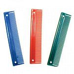 9 inch plastic equine grooming comb. Do not hurry the grooming procedure with a young horse. Let it become accustomed to the tools and their uses.