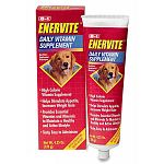 A high calorie, high energy nutritional supplement specially formulated for dogs. For dogs off their normal diet, Enervite helps stimulate their appetite and increases weight gain.  4.25 oz - 8 in 1 Products