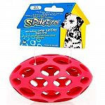 This hard rubber toy is a multi-tasking item. These tough rubber toys were developed for and by pet owners in order to provide a superior outlet for interactive fun between dog and owner