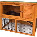 The Premium Plus Penthouse Rabbit Hutch by WARE is made of the highest quality materials and high quality craftmanship. This deluxe multi-level home for your small pets has many features and a large amount of living space. Dimensions: 46