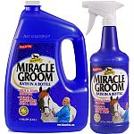 Miracle Groom is a patented 5-in-1 formula that cleans, conditions, deodorizes, detangles, and shines in just one miraculous application. Miracle Groom maintains a bright shine without greasy residue - saddles won't slip.