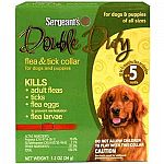 Double Duty Flea and Tick Collar by Sergeant's provides you with a simple solution to flea and tick problems on your dog. Just put collar on your dog and fleas, flea eggs and ticks will instantly start to die and fall off your pet. Ticks may be easily rem