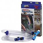 Helps change water in aquariums. Lee's Ultimate GravelVac Kit attaches directly to your kitchen or bathroom sink faucet via a long hose, so you don't have to deal with buckets or pails.