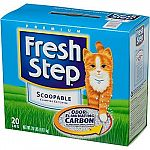 For maximum odor control, try Fresh Step Scoopable litter with odor-eliminating carbon. It eliminates odors by grabbing and holding them to the surface of the activated carbon.