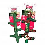 Perfect toss toy for indoor and outdoor play. Promotes healthy exercise. The new Kong Pet Stix are made with a high-grade durable nylon and with minimal stuffing, dogs will forget all about the sticks lying on the ground.