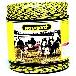 PVC coated fiberglass gives Baygard high strength as well as low stretch and sag properties. High conductivity (low resistance) aluminum wire conductors. Baygard wire is light weight, only 4.5 lb. (2 kg) per 1/4 mile