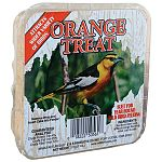 Your backyard birds will enjoy the orange flavor in this suet treat by C and S. Sold in a case of 24, this pack is convenient to use and economical. Place in a suet basket or feeder and hang on a tree branch or sheppard's hook any time of the year!