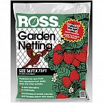 Garden netting with diamond aperture.  Protection for your lush fruit from pesky birds and other animals. A successful solution to prevent raccoons, skunks, and squirrels from digging in lawns is to cover the area with Ross Garden Netting.