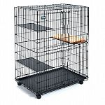 Indoor playpen for cats and kittens. This Playpen will provide your feline with a secure place to play. Features large double doors with two-point locking latches for security, and includes 3 resting benches