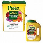 Preen Weed Preventer with Brilliant Blooms Fertilizer works all season long!Unlike with other weed killers and fertilizers, one easy application prevents weeds up to 3 months and fertilizes your plants for beautiful color