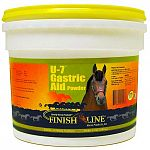 Finish Line U-7 Gastric Aid Powder is not just another calcium-magnesium-aluminum acid buffering product. Recommended to help support a healthy stomach in horses that suffer from poor appetite, poor attitude, dull coat or reduced performance.