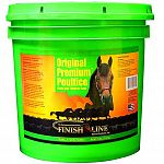 Finish Line's original poultice does a better job on a more serious situation of swelling and inflammation. Creamy smooth--it goes on easy and comes off easy. Draws heat and inflammation like no other poultice.