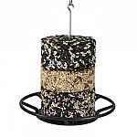 Made from durable plastic with perch, drainage holes and metal rod with hanging hook that holds cakes in place. Stack up to three stacker cakes to attract a greater variety of birds.