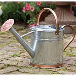 One of the classiest watering cans on the market. Will last and last, as well as look fabulous. Made of heavy gauge steel. Screw on rose is included. Many people use these as planters they look so classy.