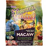 Tropical Carnival Gourmet Macaw Big Bites a special blend of nuts and fruits that macaws love to eat and provides a healthy and easily digestible diet. Tastes great and nutritious, your macaw will enjoy eating this special Big Bites gourmet blend!