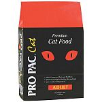 PRO PAC® Cat Adult formula is a highly nutritious, great tasting cat food specially formulated for the needs of discriminating cats and their owners. The use of high quality ingredients makes PRO PAC® Cat Adult formula highly palatable.