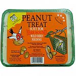 The Peanut Treat Wild Bird Food by C and S is formulated to give wild birds the nutrition and energy that they need, while being less messy and creating less waste. Use in a wide range of temperatures. At 100 degrees, treat will become soft and flexible.