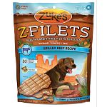 Zuke's Z-Filets are choice cuts of premium meat specially prepared to delight your dog's palate. Our canine culinary experts start with more than a pound of the finest USA beef and chicken (we never use organ meats). 3.25 oz.